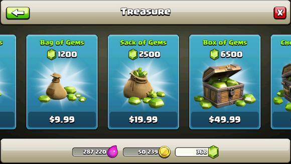 Comprar gemas Clash of Clans sem dinheiro
