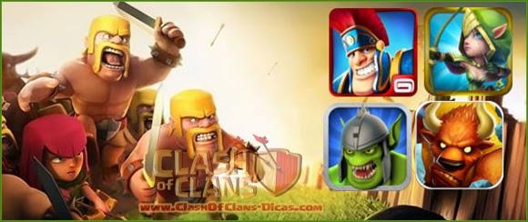 Clash of Clans - Dicas de jogos iguais