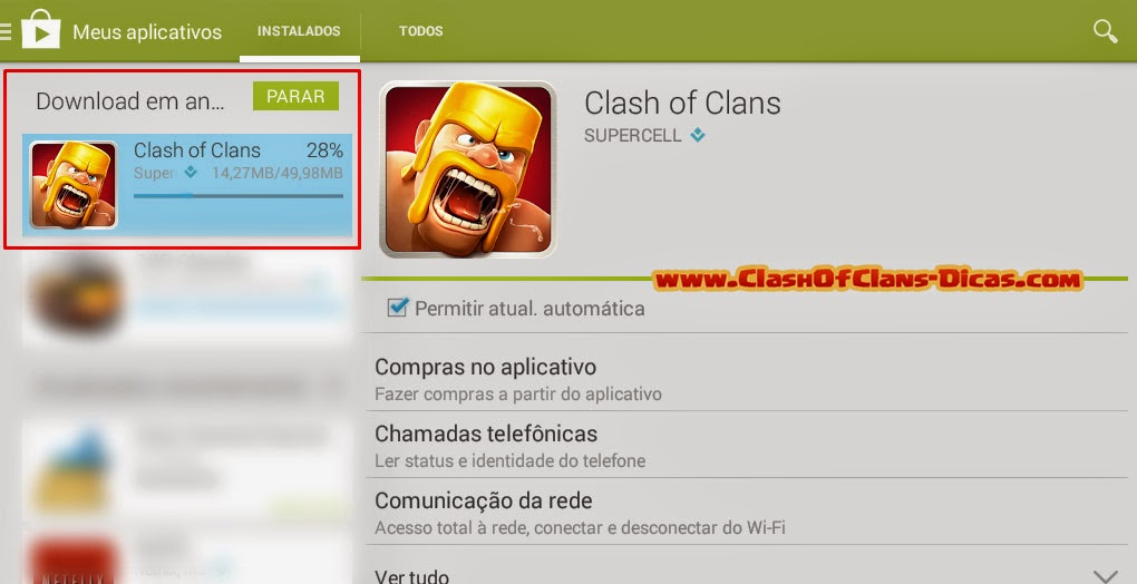 Clash of clans no google play