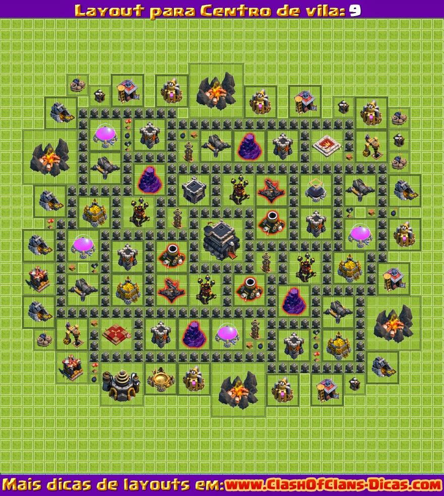 Melhores Layouts para Clash of Clans: Centro de Vila Nível