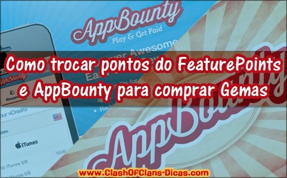 Códigos para FeaturePoints e Appbounty - Gemas Grátis