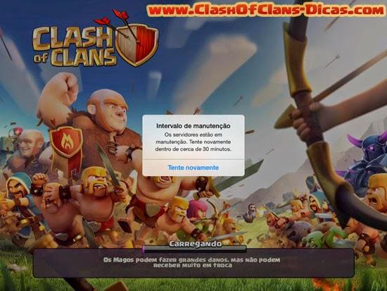 Nova imagem abertura clash of clans