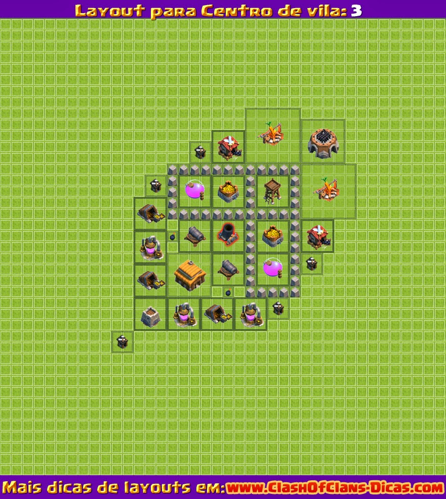 Farm layout clash of clans nivel 3