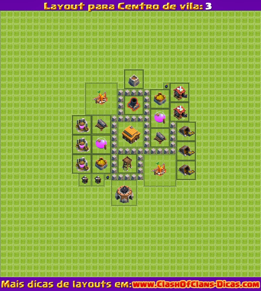 Layouts para clash of clans nivel 3