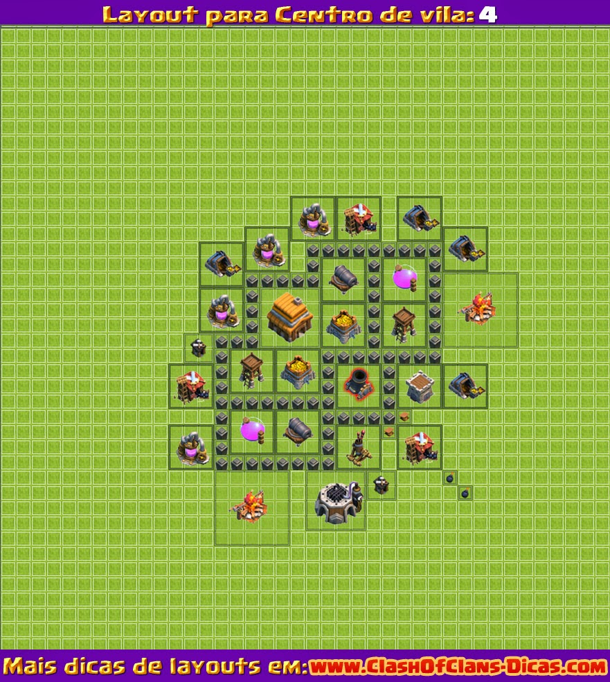 layout-clash-of-clans-nivel-4-bonito