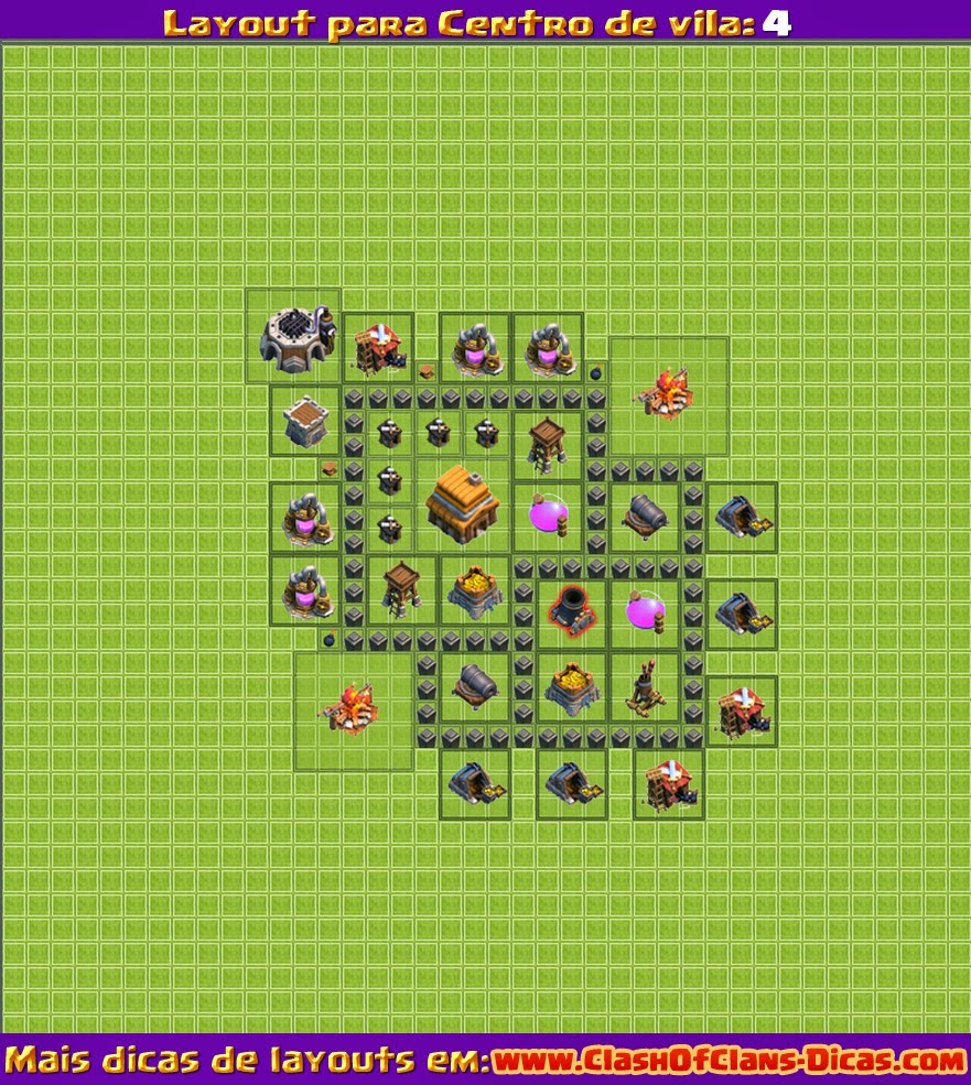 nome elite cv 4 - Layout Cv 4 Clash Of Clans