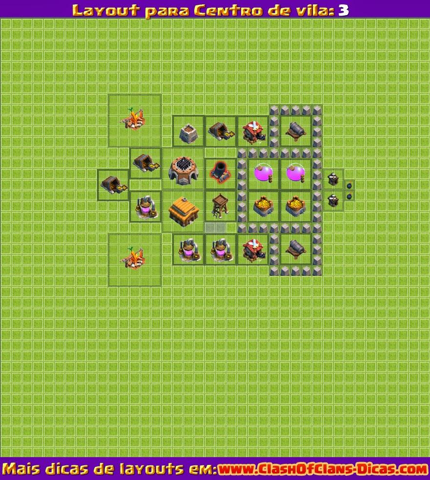 Clash of clans - recursos - nivel 3 centro de vila