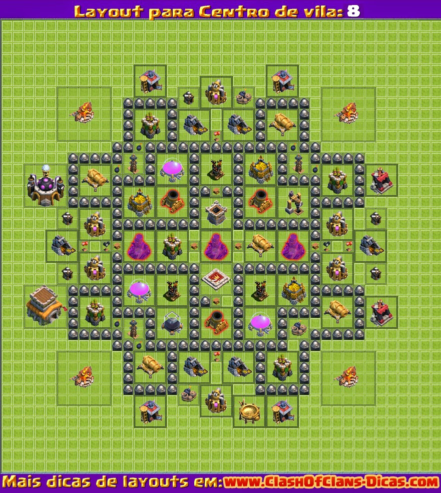Clash of clans Town hall 8 TH CV