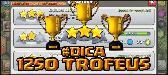 Conquista 1.250 trofeus
