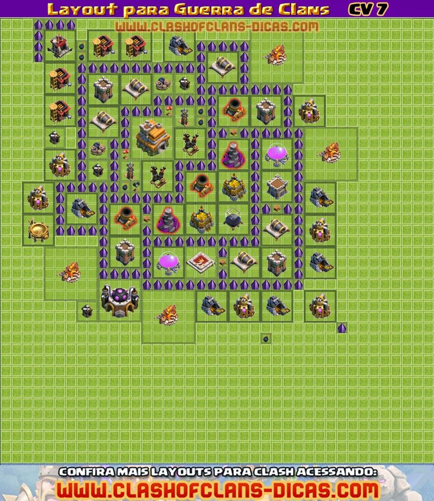 layouts de cv 7 para guerra de clans