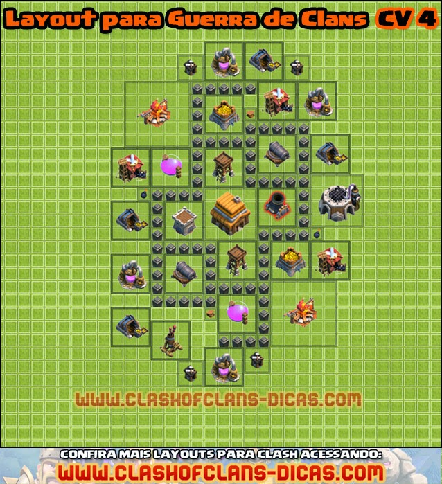 Clash of Clan Wars townhall 4 - wars