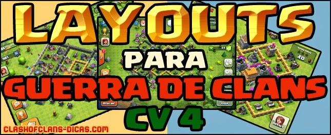 CV 4 Layouts para Guerra de Clans