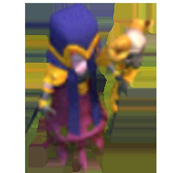 Bruxa nível 3 e 4 - Clash of Clans