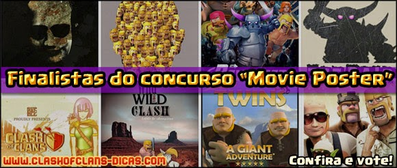 Finalistas do concurso artistico de Clash of Clans