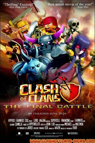 Concurso Clash of Clans movie - Clash of Clans Art design humor