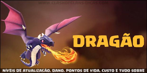 Níveis de atualização, dano e informações do Dragão