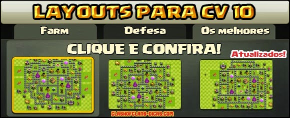 Layouts de Centro de vila 10 para Clash of Clans