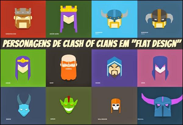 Tropas De Clash Of Clans Em Quot Flat Design Quot Clash Of Clans