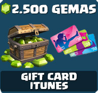 Comprar 2.500 Gemas Clash of Clans