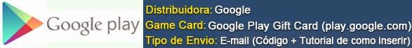 CLIQUE PARA COMPRAR! (Gift Card Google play)
