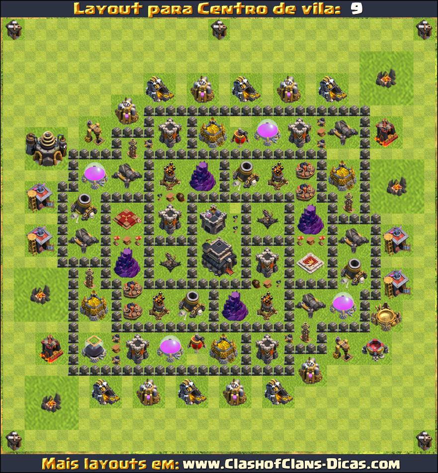 layouts para cv9 em clash of clans - atualizados