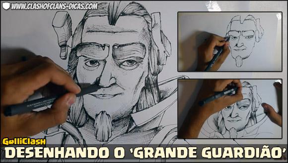 GelliClash desenhando o Novo Herói