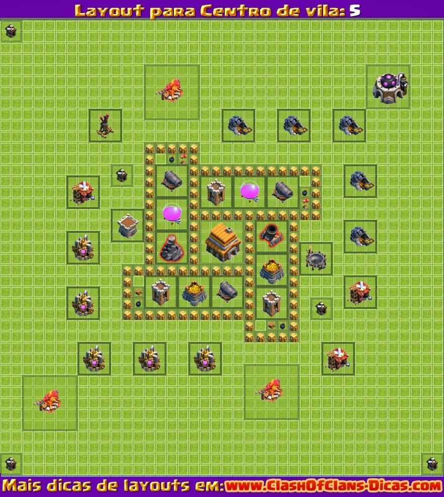 Melhor layout para clash of clans vila nivel 5