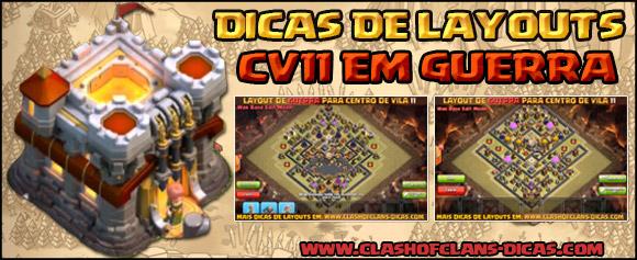 Layouts de CV11 para Guerra - Clash of Clans