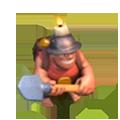Mineiro nível 1 e 2 em Clash of Clans