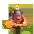 Mineiro nível 3 e 4 em Clash of Clans
