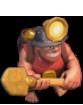 Mineiro nível 5 e 6 em Clash of Clans