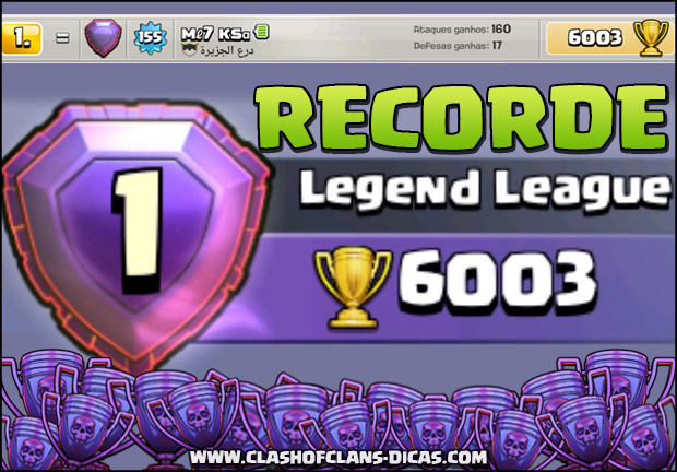 6.000 Troféus - Recordes Clash of Clans