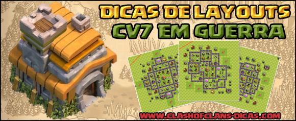 Melhores layouts para Centro de vila 7 em Guerra