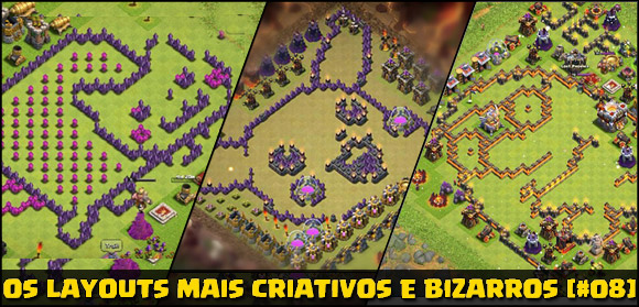 Os layouts mais bizarros Clash of Clans