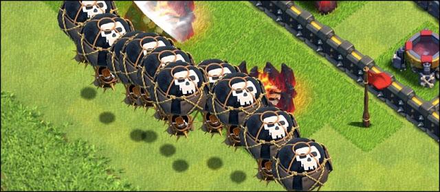 Quais tropas carregar no Castelo do Clã
