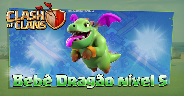 Baby Dragon level 5 Clash of Clans