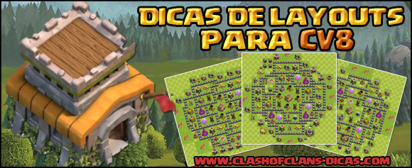 Layouts Centro de vila 8 - Defesa, Armadilha e híbridos