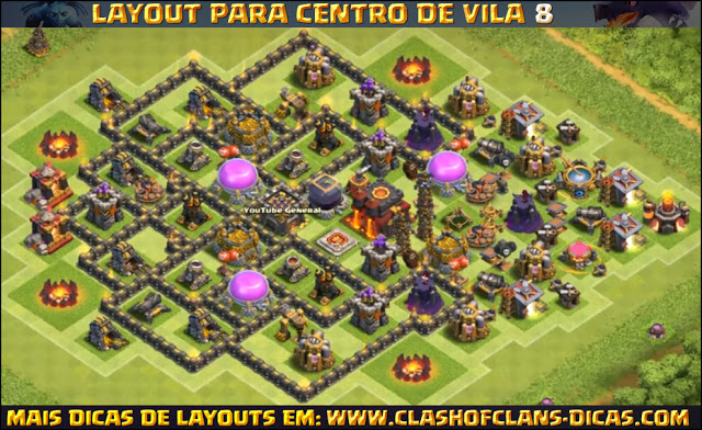 Layout Centro de Vila 8 Clash of Clans - TH8 Update