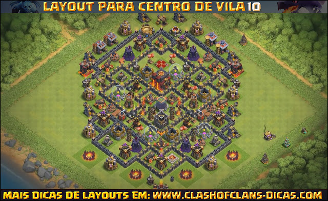 Layouts para Centro de Vila 10 para FARM, PUSH e HÍBRIDO
