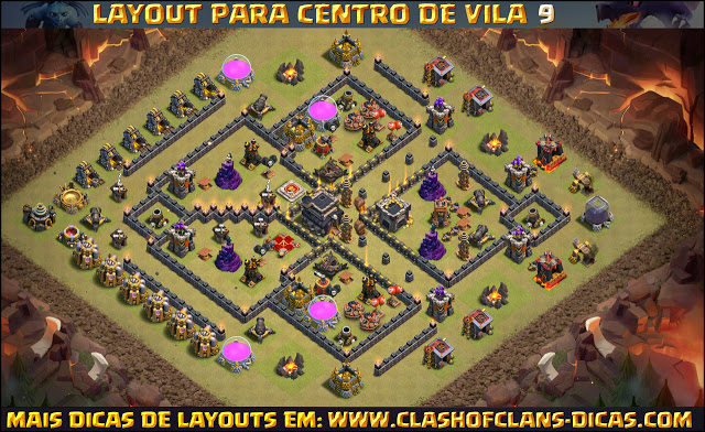 Layouts TH9 War base - With Bomb Tower update