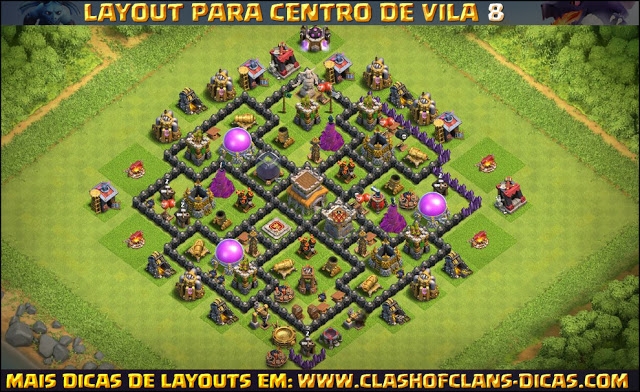 Layout Town Hall 8 with Bomb Tower - Update october 2016