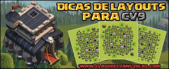 Layouts de Centro de vila 9 - Farm, Defesa, hibrido e armadilhas