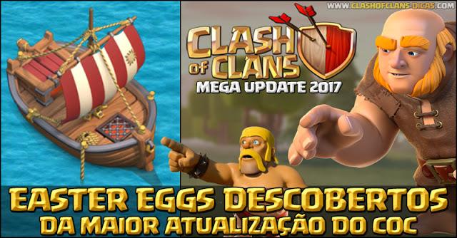 Easter Eggs atualização Clash of Clans 2017