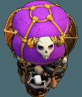Balão de Ossos nível 17 ao 18 - Clash of Clans