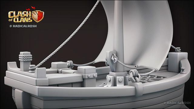 FanArt 3D do Barco da próxima atualização