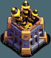 Foguetinhos nível 9 - Base do Construtor do Clash of Clans