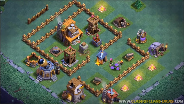 Layout BH/CC 4 no Clash of Clans