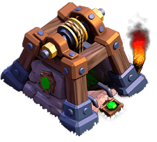 Mina de Gemas nível 9 - Base do Construtor Clash of Clans