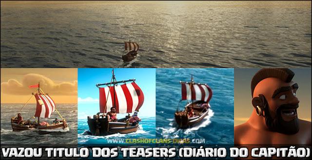 Vazou Titulo dos próximos vídeos do Diário do capitão Chas