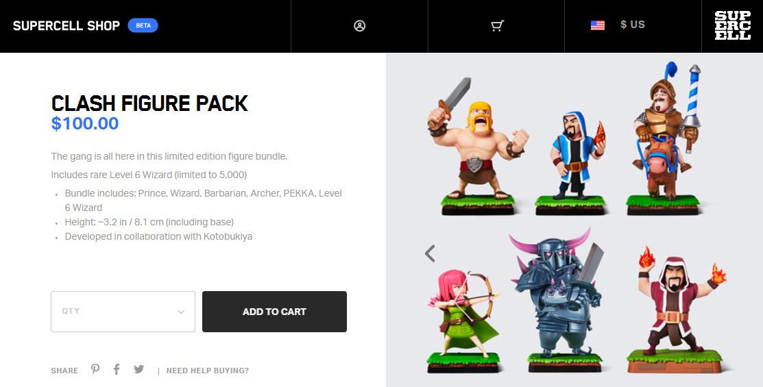 Loja da Supercell agora envia produtos para o mundo todo!